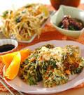 「水菜とひき肉の卵焼き」の献立