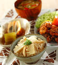「タケノコご飯」の献立