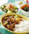 「薄切り牛肉のカレー」の献立