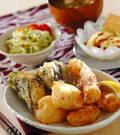 「ホタテとチーズの天ぷら」の献立
