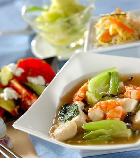豆腐の中華うま煮の献立