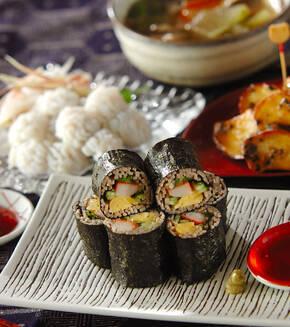 そば巻き寿司の献立