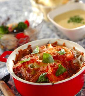 野菜のこんがりチーズ焼きの献立