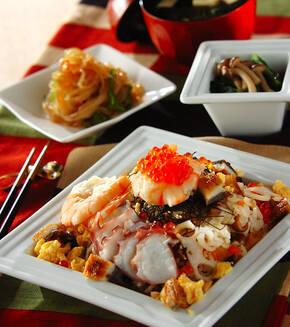 豪華ちらし寿司の献立