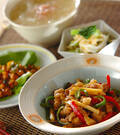 「細切り豚肉と野菜炒め」の献立
