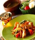 「鶏のカレー炒め」の献立