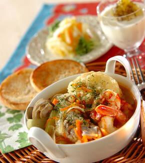 魚介のスープの献立