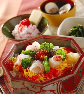 彩りちらし寿司の献立