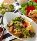 「ホタルイカと菜の花のパスタ」の献立