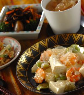 豆腐の塩炒めの献立