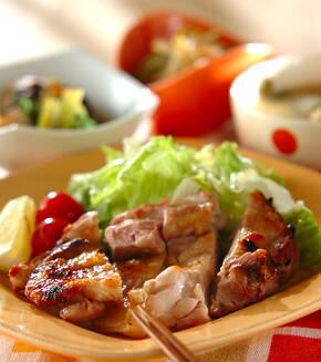 鶏もも肉の塩焼きの献立