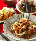 「牛肉のソース炒め」の献立