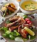 「骨付き豚バラ肉の塩焼き」の献立