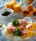 「梅おろしのせ七夕素麺」の献立