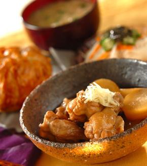 大根と鶏手羽元の煮物の献立