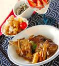 「鯛のアラ炊きゴボウ添え」の献立