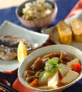 「豆腐と根菜の煮物」の献立
