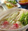 「手作りポン酢とたっぷり薬味の豚しゃぶ鍋」の献立