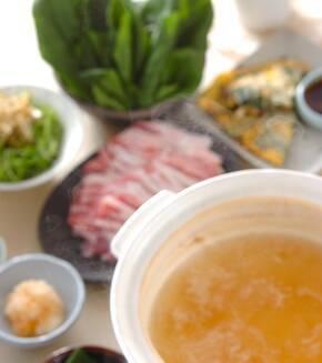スープ常夜鍋の献立
