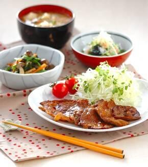 豚肉の生姜焼き しっかり味でご飯がすすむ!の献立