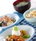 「鶏唐揚げのスープ仕立て」の献立