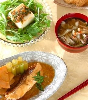 鯛とタケノコの煮物の献立