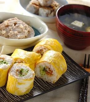 卵巻き寿司の献立