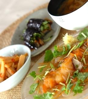 白身魚の野菜あんかけの献立