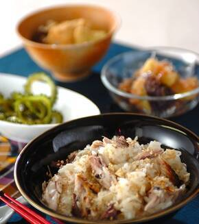 焼きサバのショウガご飯の献立