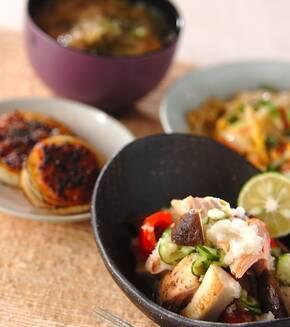 鮭と野菜のおろし和えの献立