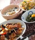 「ユリネと鶏肉の炒め物」の献立