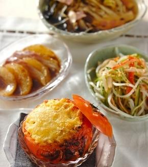トマトのチャーハン詰め焼きの献立