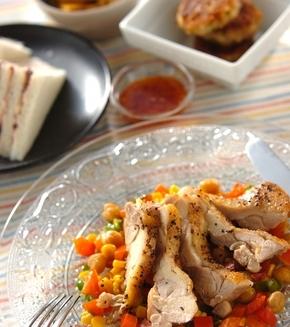 鶏のペッパー焼きの献立