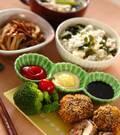 「シイタケの肉詰めフライ」の献立