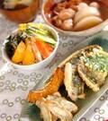 「アジと新ゴボウの天ぷら」の献立