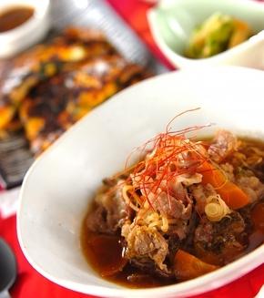 牛肉とモヤシのスープ煮の献立