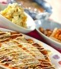 「キムチ餅お好み焼き」の献立