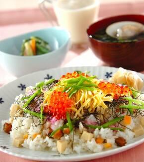 ひな祭りのちらし寿司の献立