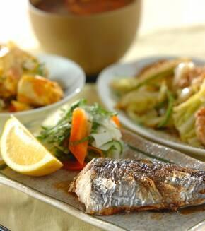 春の魚!サワラのシンプル塩焼きの献立