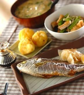 魚の塩焼きの献立