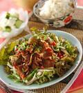 「ラムと野菜の炒め物」の献立