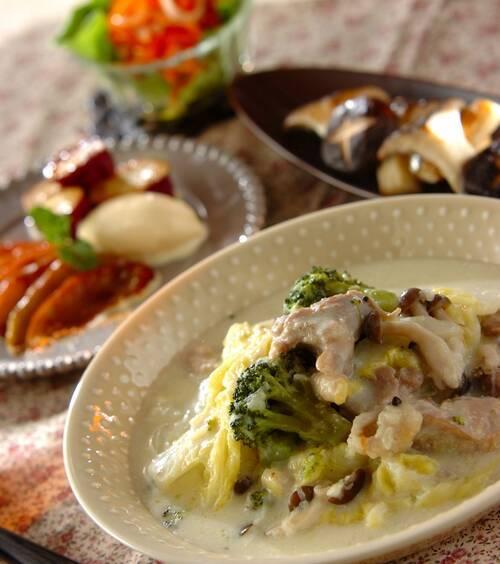 チキンのクリーム煮 の献立 レシピ E レシピ 料理のプロが作る
