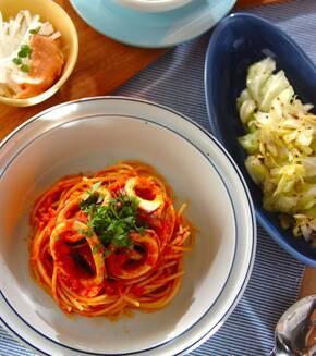 イカのトマトスパゲティーの献立