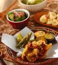 「豚肉のカレー風味天ぷら」の献立