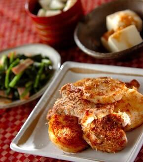 豚ヒレ肉と長芋の土佐焼きの献立