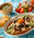 「冷やし納豆素麺」の献立