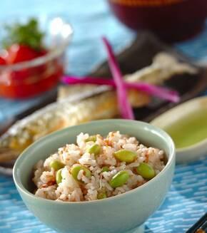 枝豆と梅干しのジャコご飯の献立