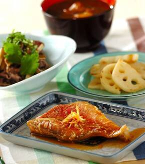ご飯がすすむ和食!赤魚の煮付けの献立