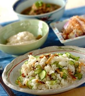 アナゴの混ぜ寿司の献立