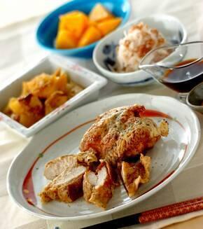 鶏むね肉の天ぷらの献立